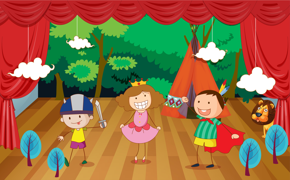 Театр нарисованный для детей